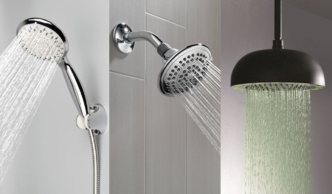 11 Types of Shower Heads Explained - MorningToBed.com